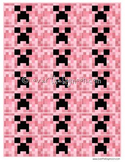 creeper wrappers pink thumb Free Printable Minecraft Valentines in Pink   All New Sayings!