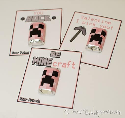 free minecraft valentines thumb1 Free Printable Minecraft Valentines in Pink   All New Sayings!