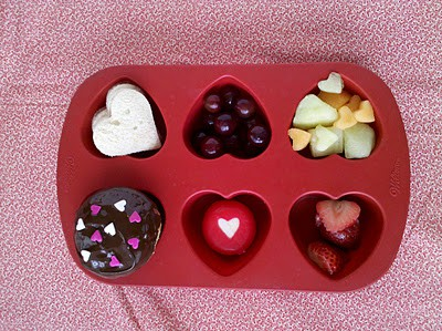 Muffin Tin Lunch Idea for Valentine's Day
