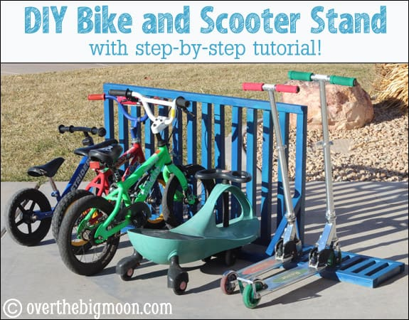 Diy Bike And Scooter Stand For Your Garage Over The Big Moon