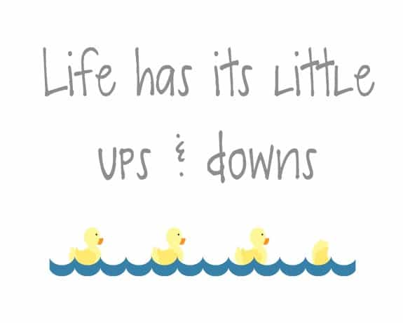 life has its little ups and downs