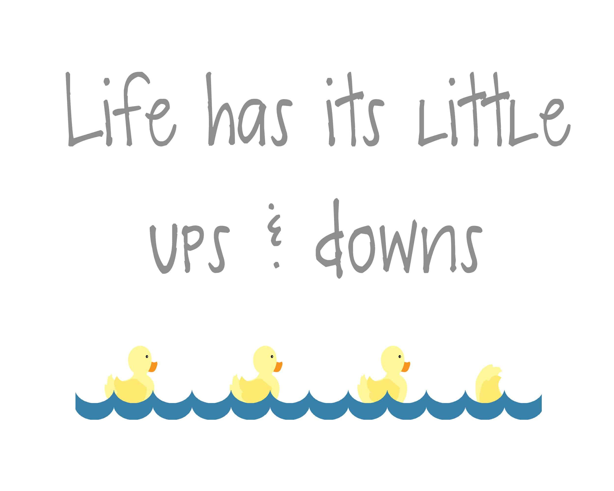 """an essay on the ups and downs of life Everybody has """"ups and downs""""in life the """"ups"""" are when things are going just the way we think they should be the """"downs"""" are when we get all sorts of problems and things look like they are not going so good in this essay, i will try to show how to solve these problems through."""