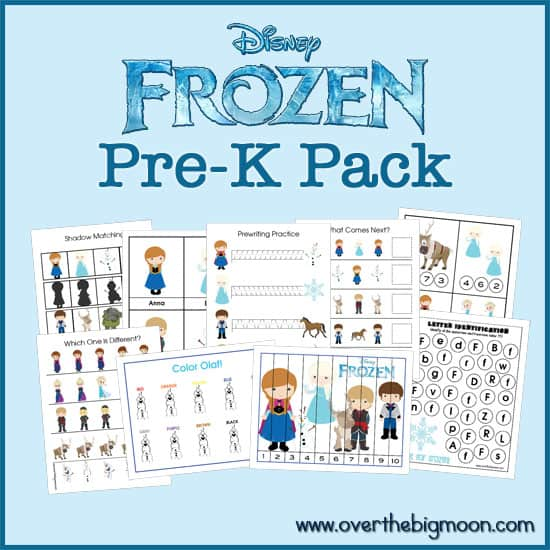 Frozen Button Frozen Pre K Pack