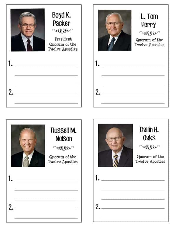General Conference Packet for School Age Kids