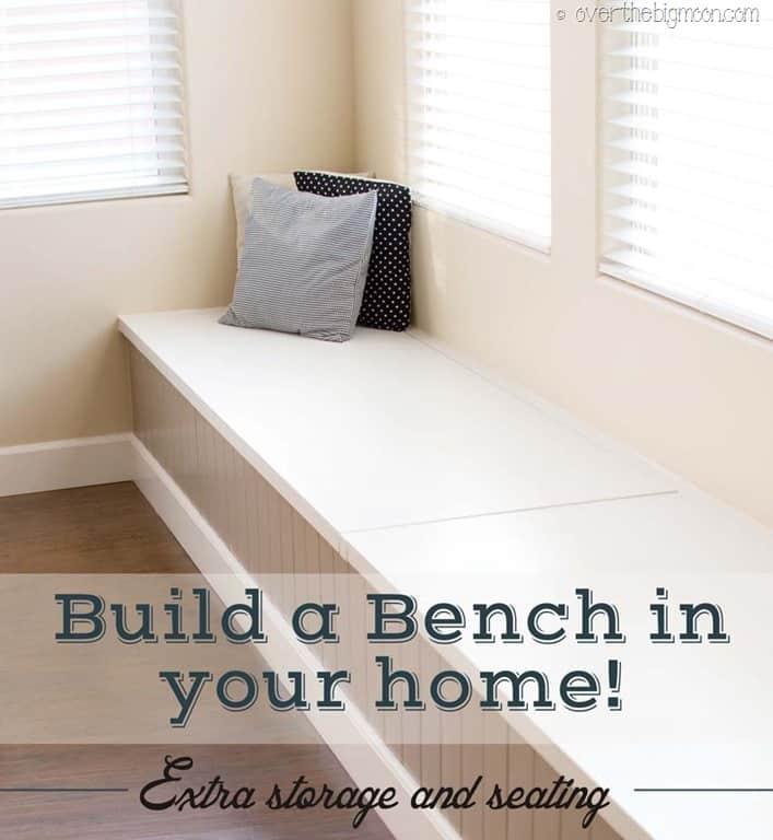 Diy Storage And Seating Bench