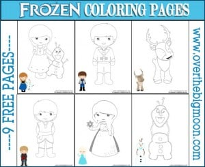 Frozen Coloring Button 300x245 Frozen Pre K Pack