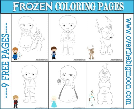 Color By Number Frozen Coloring Pages