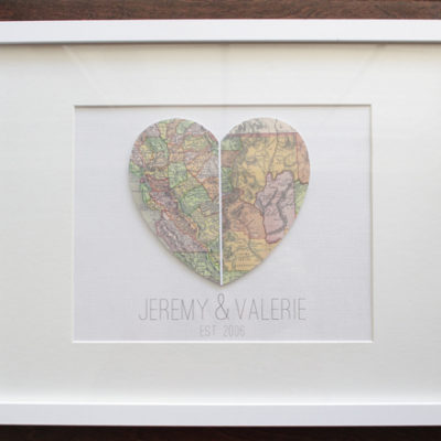 DIY Heart Map Art