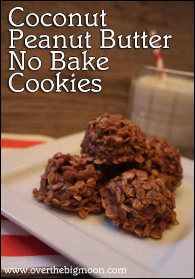 no bake cookies button Coconut Peanut Butter No Bake Cookies