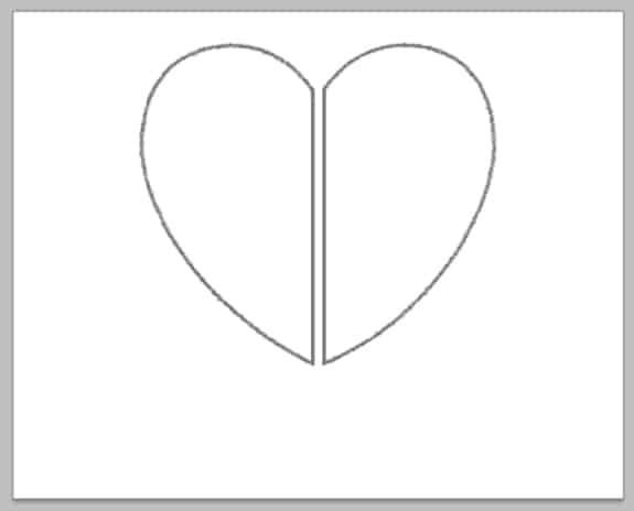 split-heart-outline