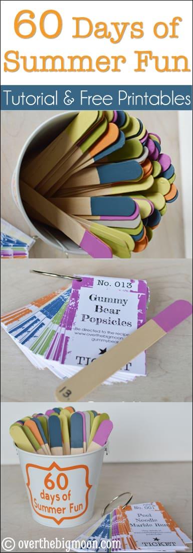 60 days summer fun pin 60 days of Summer Fun w/ Printable Cards!