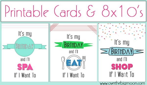 Bday Printable Button Its My Birthday Printable Cards & 8x10s