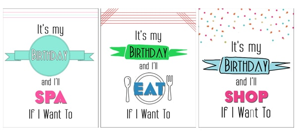 Bday Printable Its My Birthday Printable Cards & 8x10s