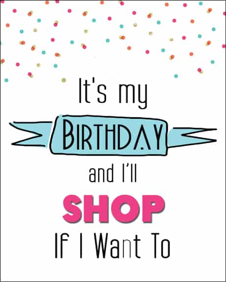 Its My Birthday Printable Cards 8x10s Over The Big Moon