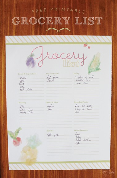 Grocery List1 Grocery List Printable from Designs by Miss Mandee
