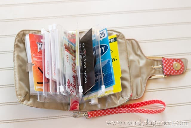Gift cards for Teachers in a bag