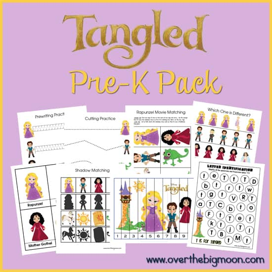 Tangled Web Button Tangled Pre K Pack