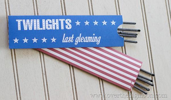 DIY patriotic sparklers