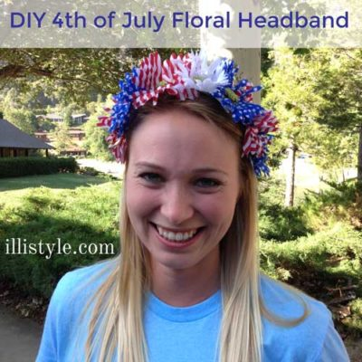 DIY 4th of July Floral Headband