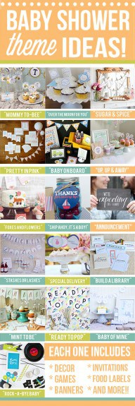 LOTS of Baby Shower Themes