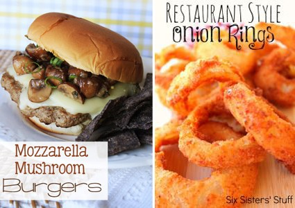 Mushroom Onion Must Try Burgers and Sides