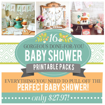 A Bundle of JOY - 16 Baby Shower Printable Packs in ONE!