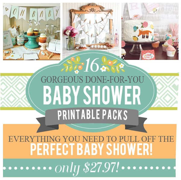 A bundle of joy 16 baby shower printable packs in one for Baby shower decoration packs