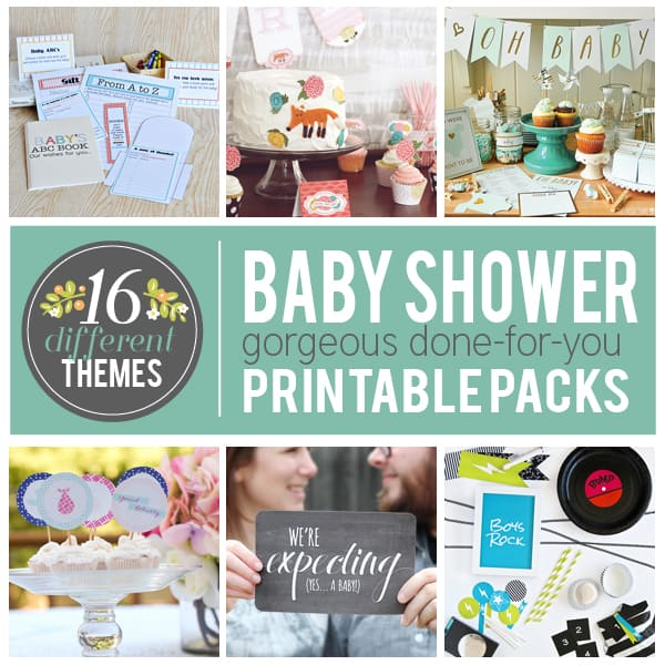 Baby shower printable pack giveaway over the big moon