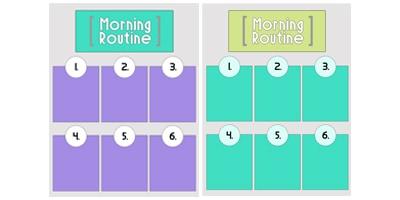 Blank Morning Routine Printables