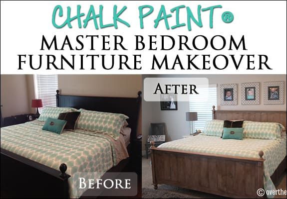 chalk paint bedroom furnitureChalk Paint Master Bedroom Furniture Makeover  Over The Big Moon