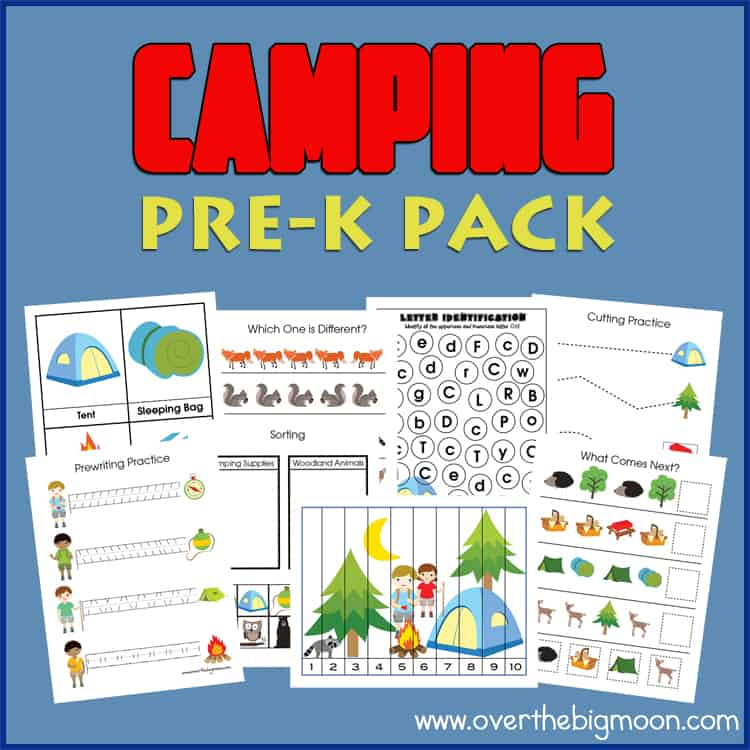 Over The Big Moon Camping Pre-K Pack - Over The Big Moon