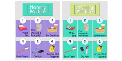 Completed1 Morning Routine Printables