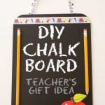 DIY Chalk Board Teacher's Gift Idea - illistyle.com