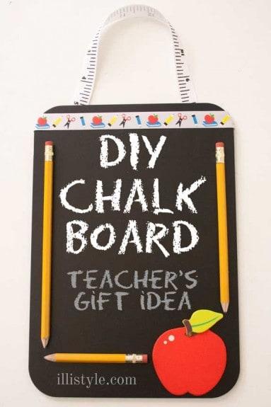 DIY Chalk Board Teacher's Gift Idea - illistyle.com