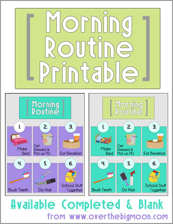 Fan image with regard to morning routine printable