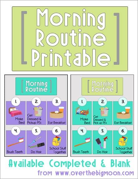 Morning Routine Button1 Morning Routine Printables