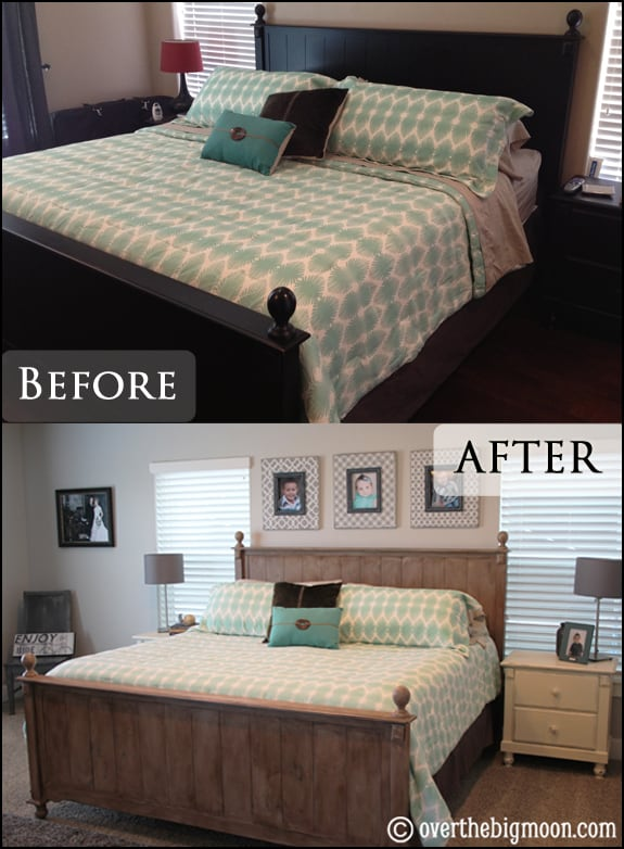 Chalk Paint Master Bedroom Furniture Makeover - Over The Big Moon