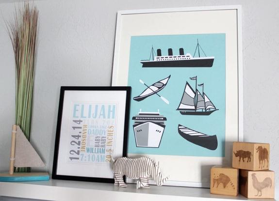 boat art print