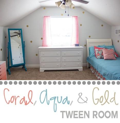 coral and aqua room