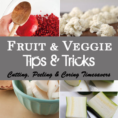 Fruit and Veggie Trips and Tricks - all the trips on coring, peeling and cutting! From www.overthebigmoon.cojm!