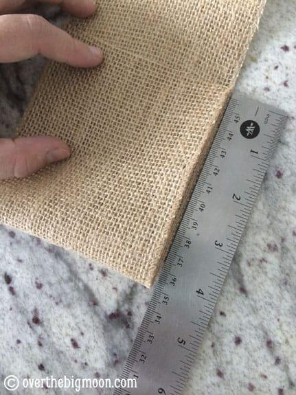 burlap-fold