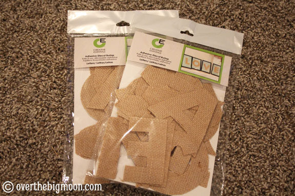 Fall White Washed Burlap Bunting - Over The Big Moon