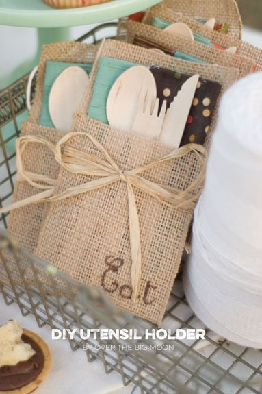 No Sew Burlap Utensil Holders How To Host An Autumn