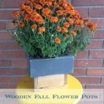 Rustic Wooden Fall Flower Pots (19)a