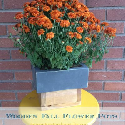 Wooden Fall Flower Pots