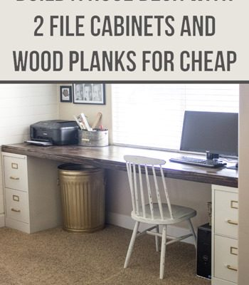 DIY File Cabinet Desk