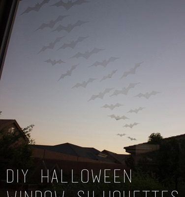 DIY Halloween Window Silhouettes