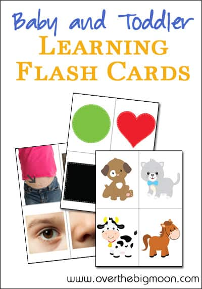 baby and toddler printable learning cards over the big moon
