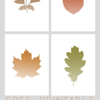 Simple Ombre Fall Leaf Prints