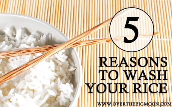 5 Reasons to Wash Your Rice